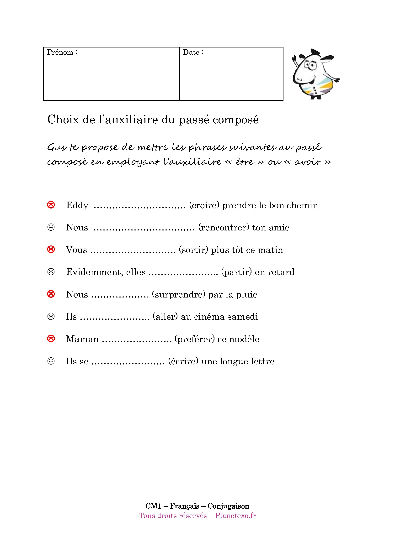 Agreeing past participle with subject's gender and number with (+ être) verbs in Le Passé Composé