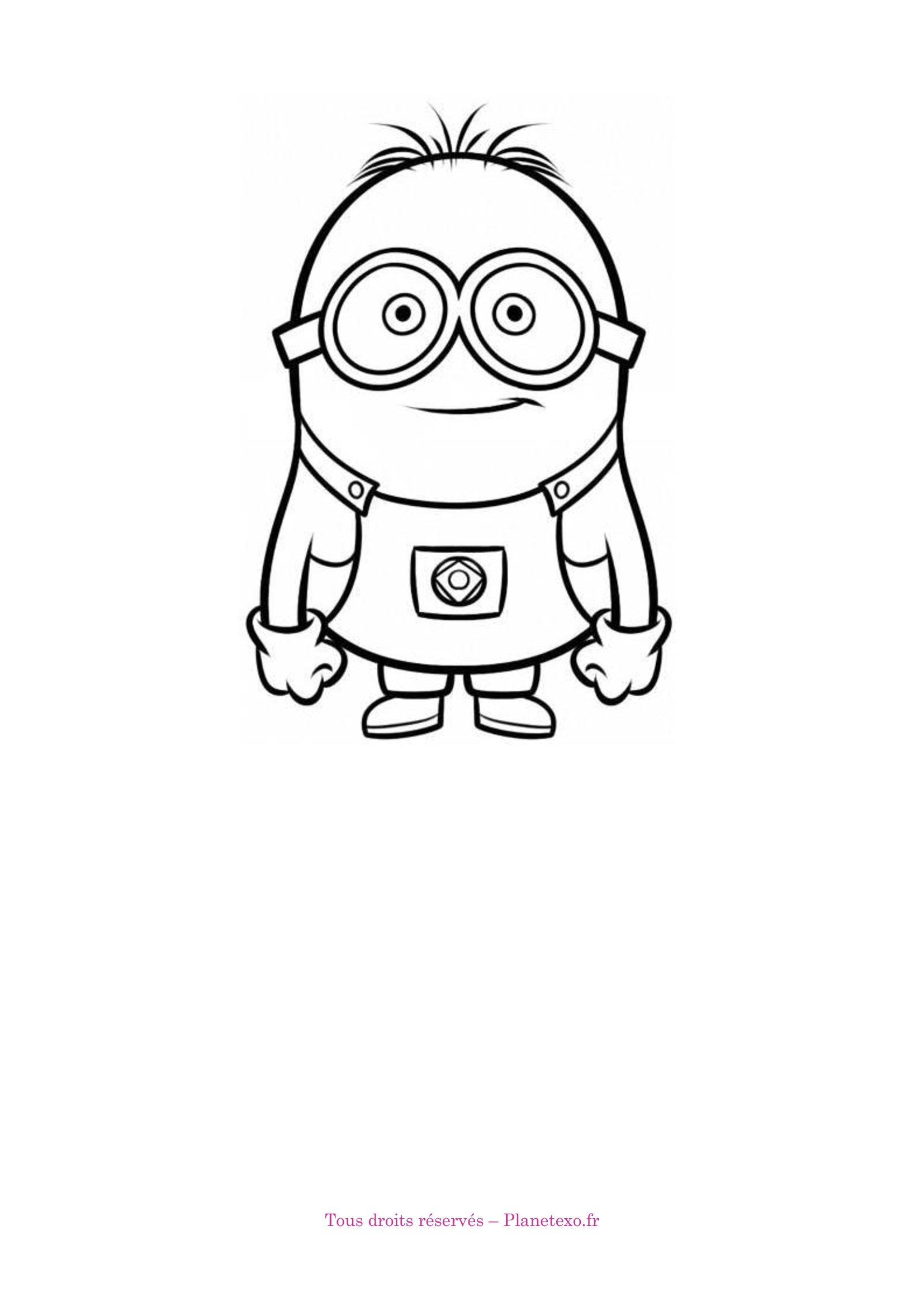 minion coloriage