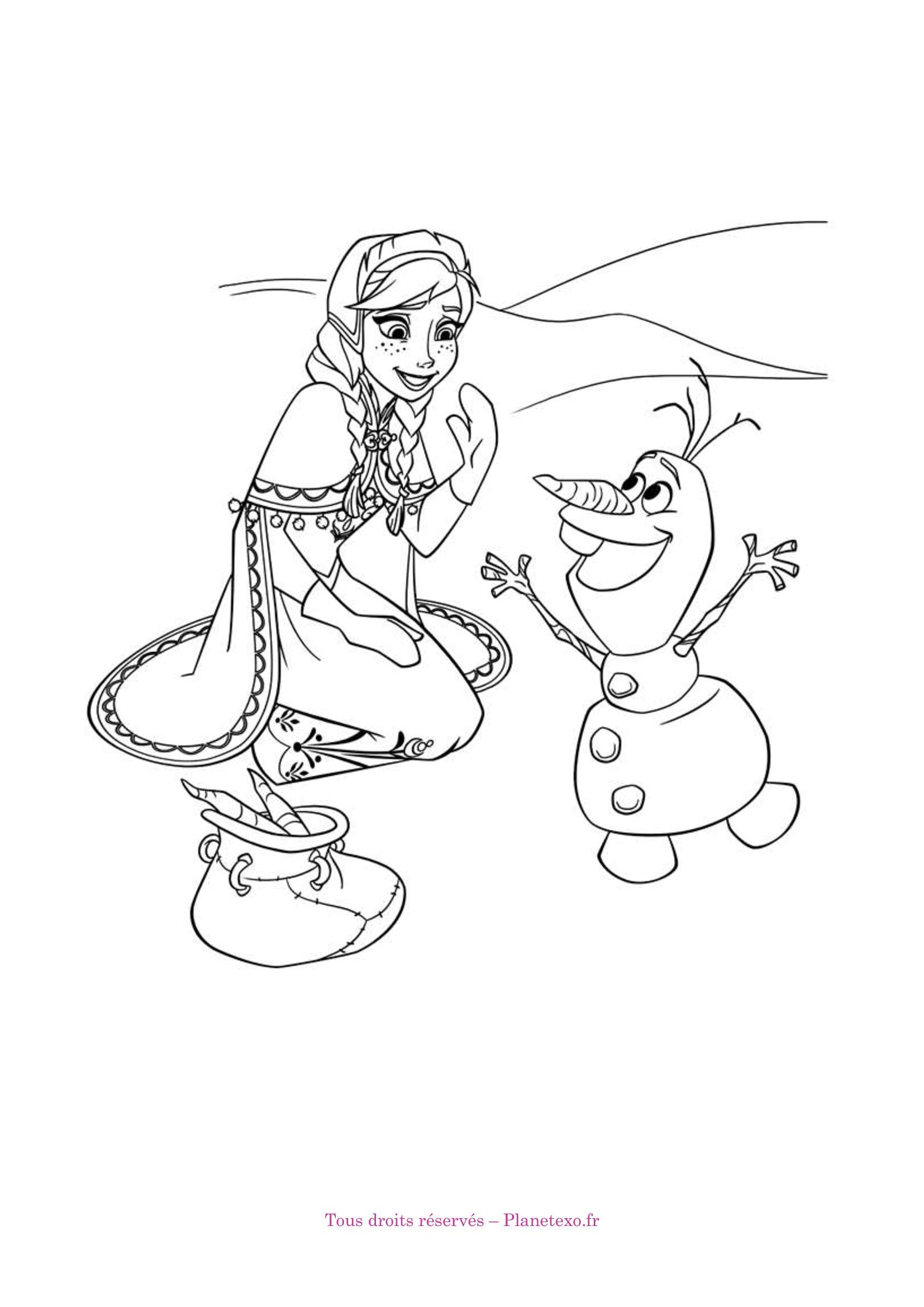 Exercice corrigé pour le Maternelle : Coloriage de la Reine des neiges